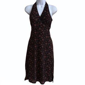 Vintage Prince Size small 2 Cocktail Dress Halter BodyCon Slip Paisley Print
